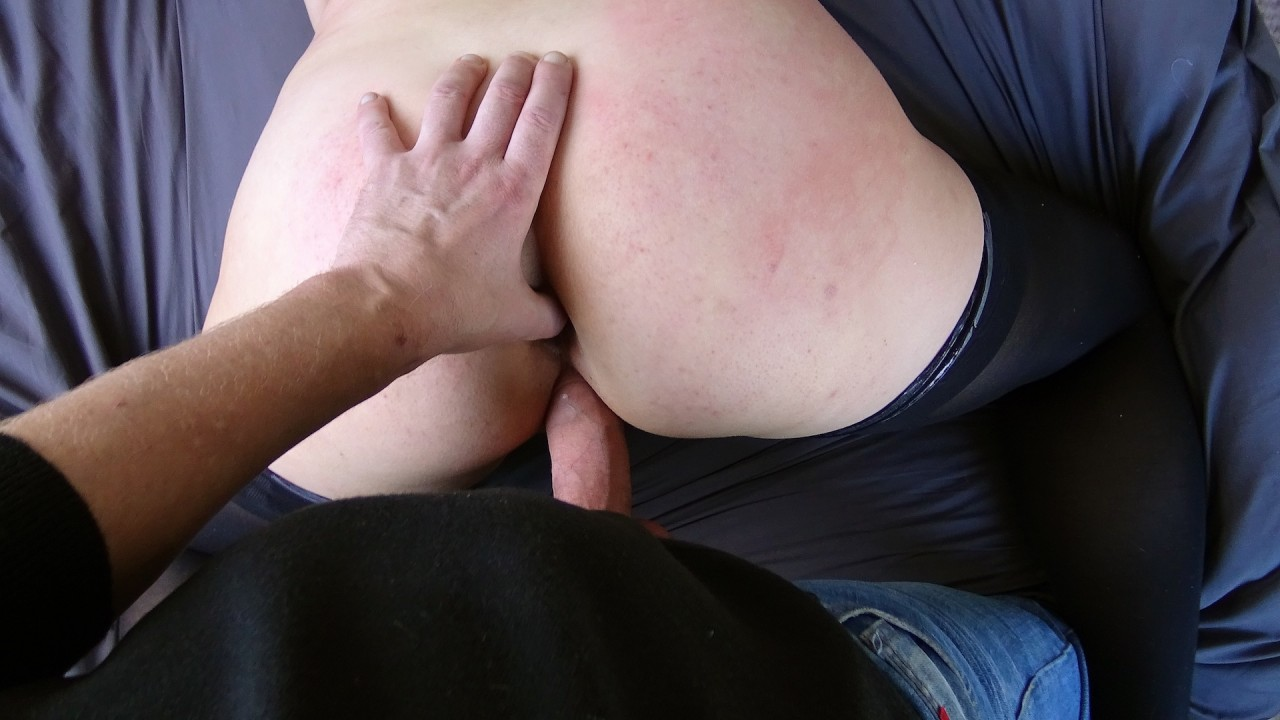 Violet: warming her ass up for cock