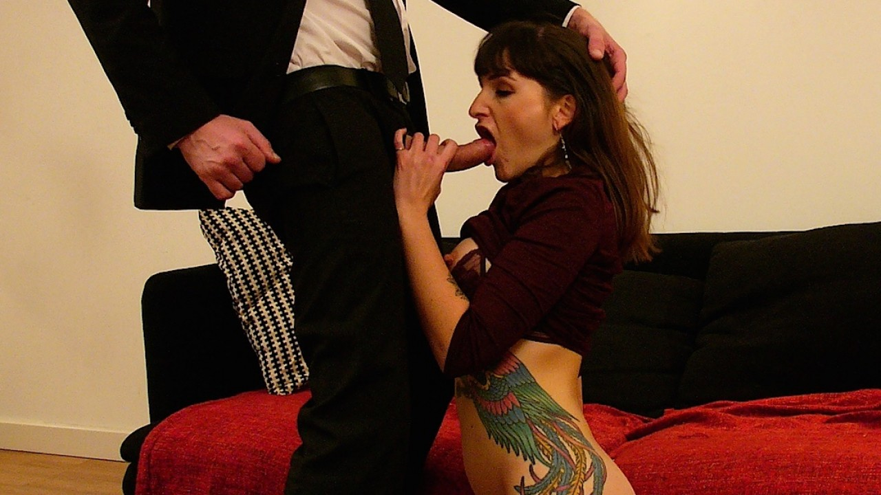 Sexy Tatted Adreena Winters Gobbles Pascals Cock